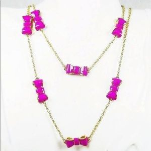Kate Spade Take a Bow Necklace Hot Pink